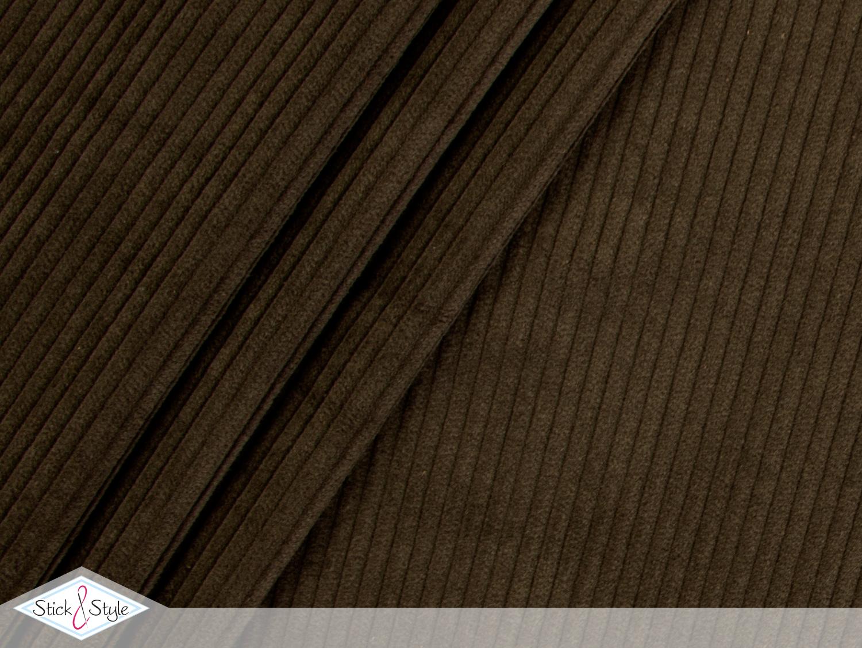 breitcord uni dunkelbraun stoffe und meterware g nstig online. Black Bedroom Furniture Sets. Home Design Ideas