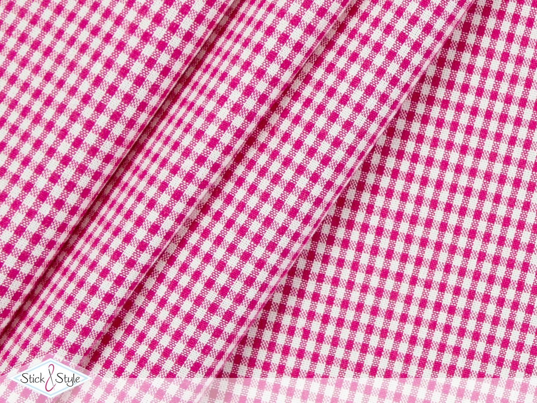 stoff baumwolle kleinkariert pink stoffe und meterware g nstig online. Black Bedroom Furniture Sets. Home Design Ideas