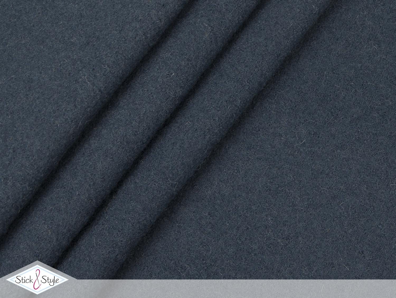 walk walkloden graublau wolle stoffe und meterware. Black Bedroom Furniture Sets. Home Design Ideas