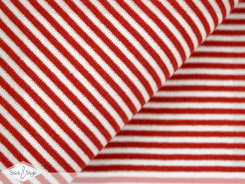 b ndchen streifen rot wei schlauchware gestreift stoffe und meterware g nstig online. Black Bedroom Furniture Sets. Home Design Ideas