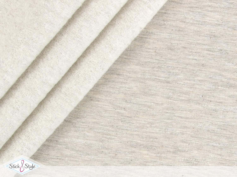sweat stoff vintage uni beige meliert stoffe und meterware g nstig online. Black Bedroom Furniture Sets. Home Design Ideas