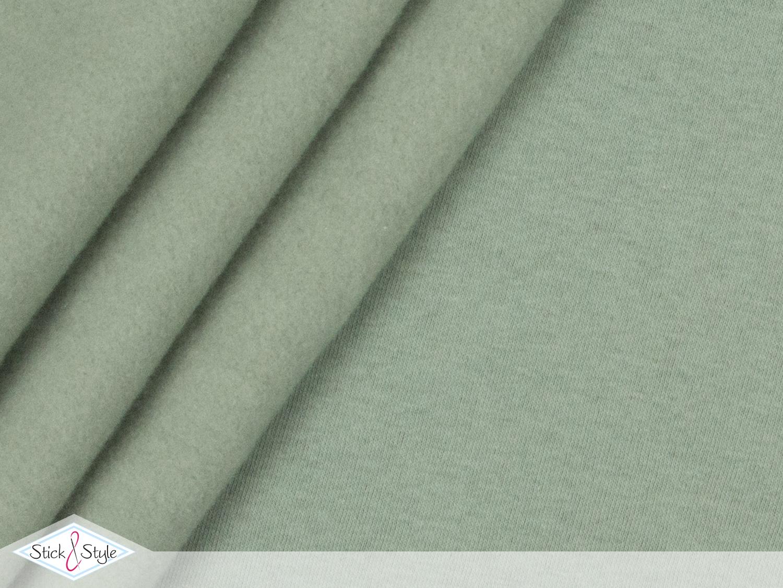 sweat stoff uni pistazie kuschelweich stoffe und meterware g nstig online. Black Bedroom Furniture Sets. Home Design Ideas