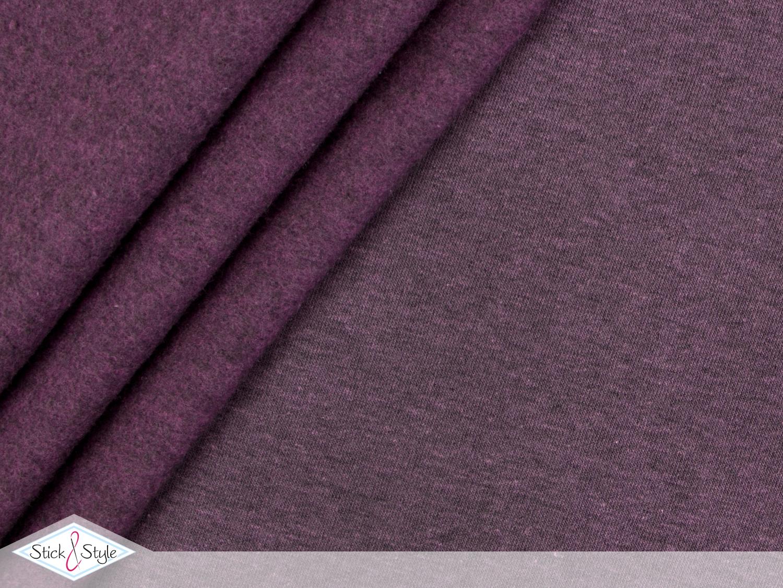 sweat stoff uni flieder schwarz meliert stoffe und meterware g nstig online. Black Bedroom Furniture Sets. Home Design Ideas