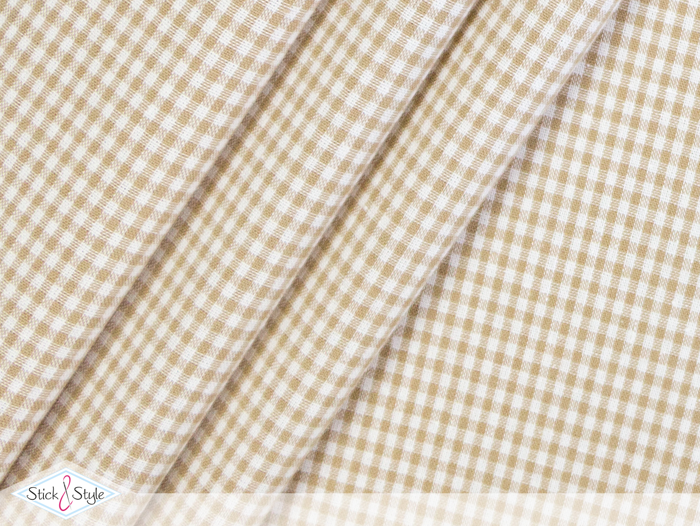 stoff baumwollstoff kleinkariert beige stoffe und meterware g nstig online. Black Bedroom Furniture Sets. Home Design Ideas