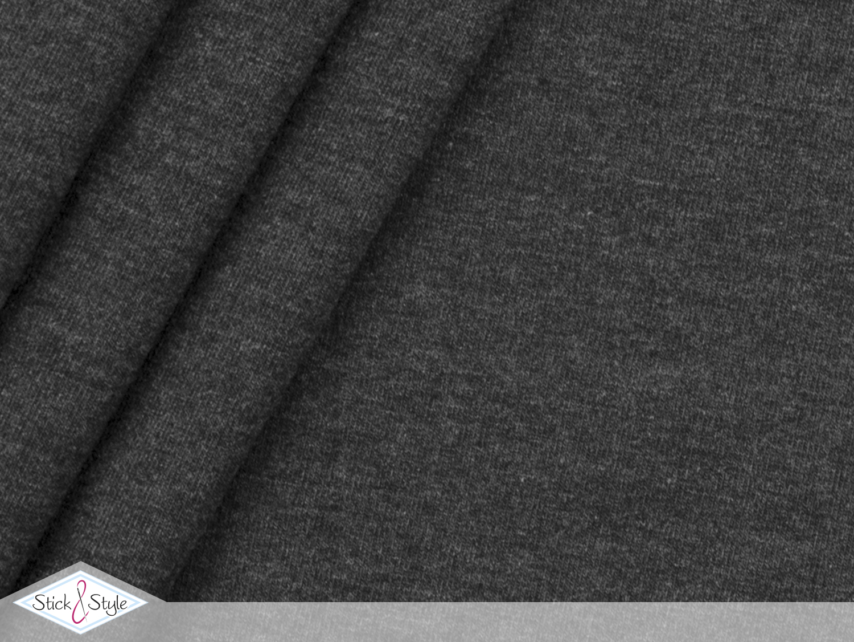 jersey baumwolle uni dunkelblau meliert stoffe und. Black Bedroom Furniture Sets. Home Design Ideas