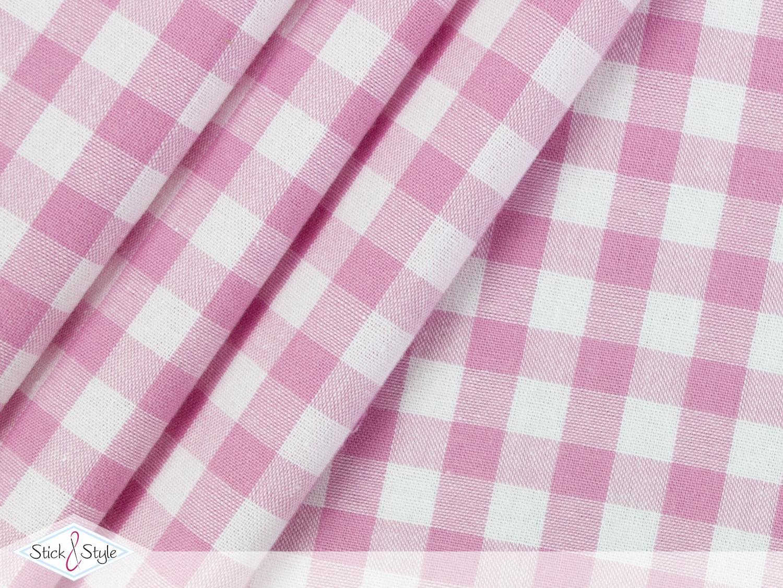 stoff baumwolle gro kariert rosa stoffe und meterware g nstig online. Black Bedroom Furniture Sets. Home Design Ideas