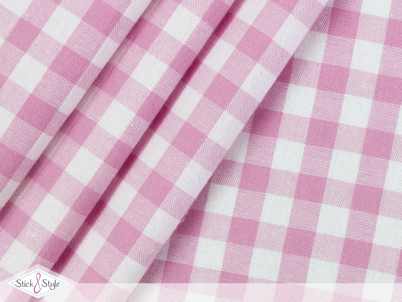 stoff baumwolle gro kariert rosa stoffe und meterware. Black Bedroom Furniture Sets. Home Design Ideas