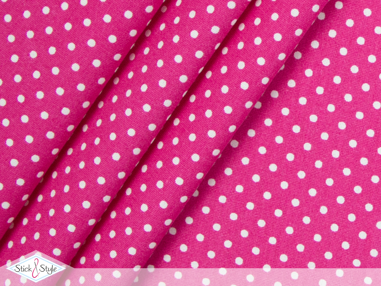 stoff baumwolle p nktchen pink stoffe und meterware g nstig online. Black Bedroom Furniture Sets. Home Design Ideas