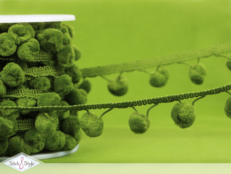 pomponband oliv stoffe und meterware g nstig online. Black Bedroom Furniture Sets. Home Design Ideas