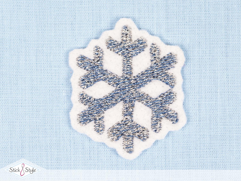 Frohe Weihnachten Glitzer.Aufnäher Frohe Weihnachten Schneeflocke Graublau Glitzer