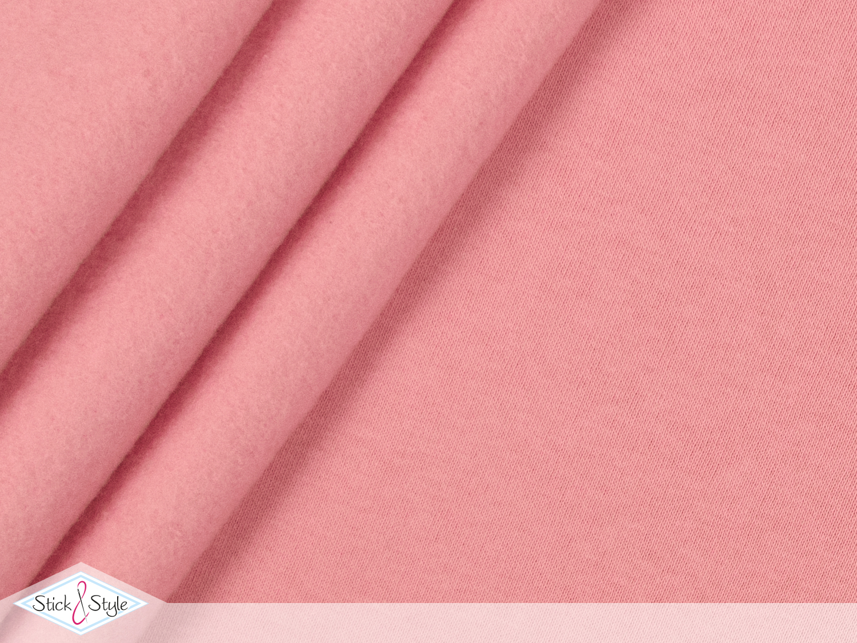 sweat stoff uni rosa kuschelweich stoffe und meterware g nstig online. Black Bedroom Furniture Sets. Home Design Ideas