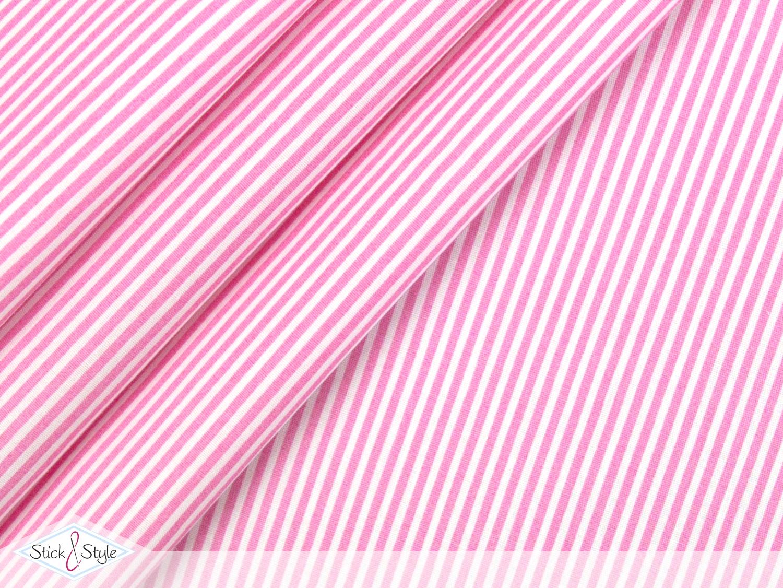 stoff baumwolle streifen schmal rosa stoffe und. Black Bedroom Furniture Sets. Home Design Ideas