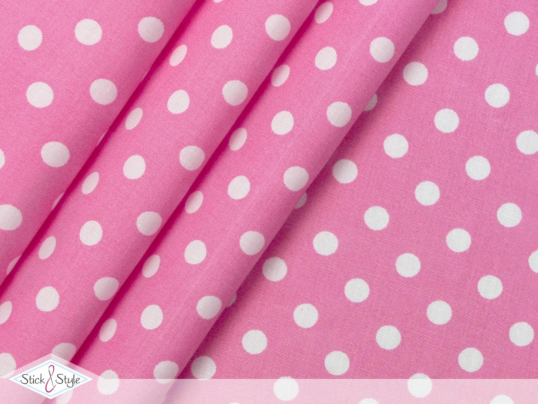 stoff baumwolle punkte rosa stoffe und meterware g nstig online. Black Bedroom Furniture Sets. Home Design Ideas