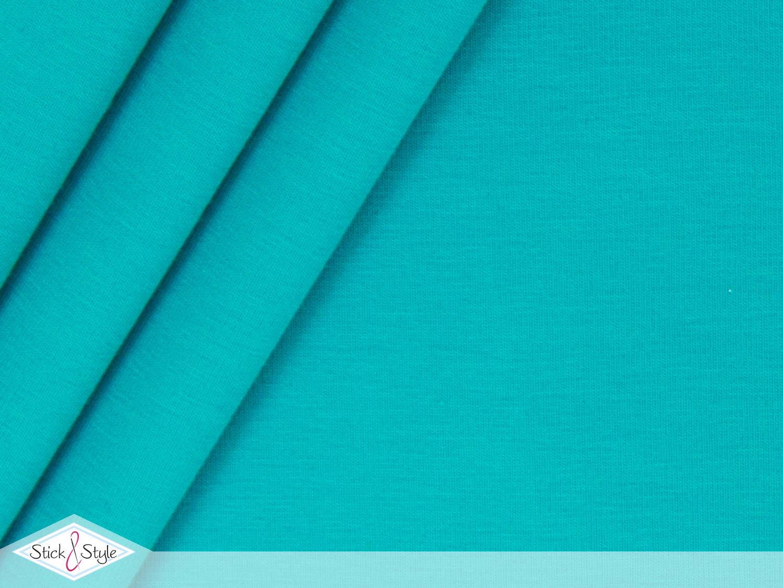 jersey baumwolle uni aquamarin stoffe und meterware g nstig online. Black Bedroom Furniture Sets. Home Design Ideas