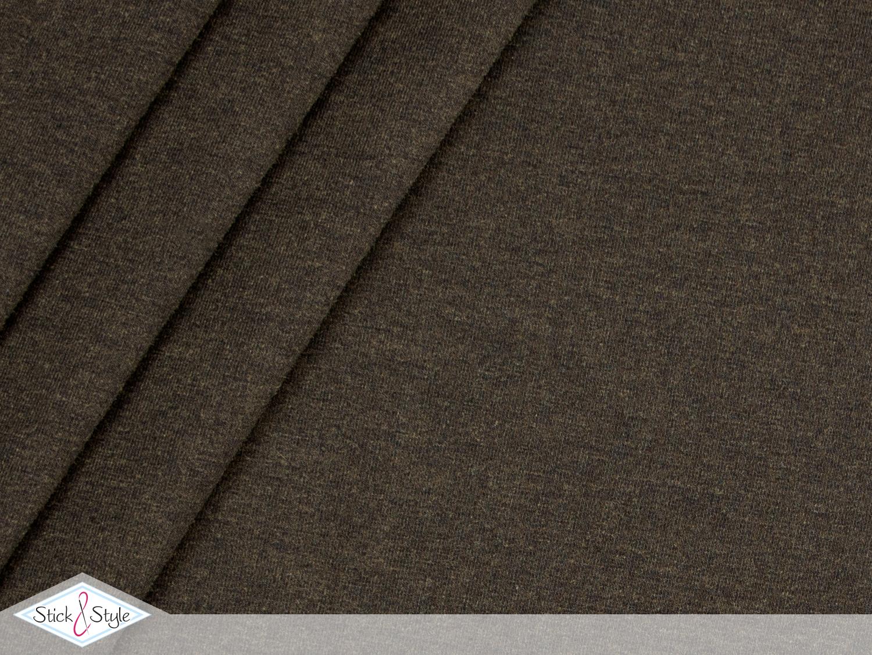 jersey baumwolle uni schwarzbraun schwarz meliert stoffe und meterware g nstig online. Black Bedroom Furniture Sets. Home Design Ideas