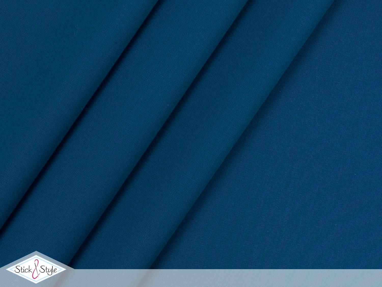stoff baumwolle uni mittelblau uni baumwolle stoffe stoffe und meterware g nstig online. Black Bedroom Furniture Sets. Home Design Ideas