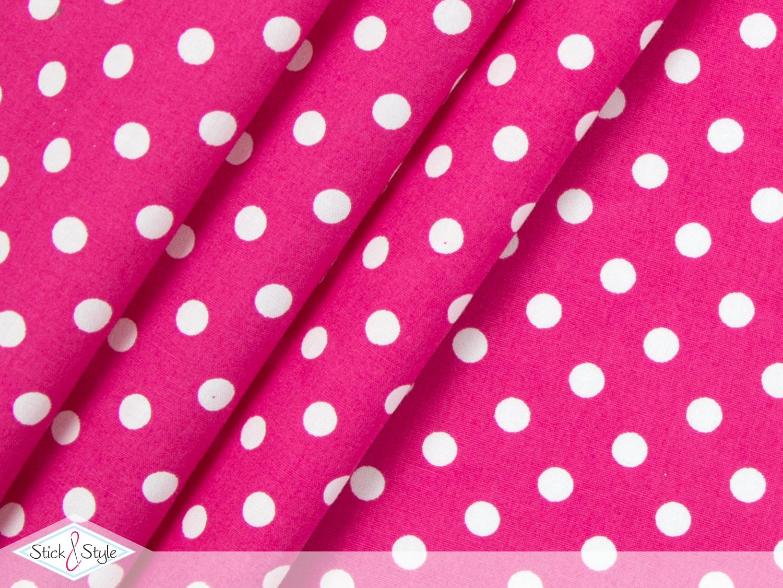 stoff baumwolle punkte pink stoffe und meterware g nstig online. Black Bedroom Furniture Sets. Home Design Ideas