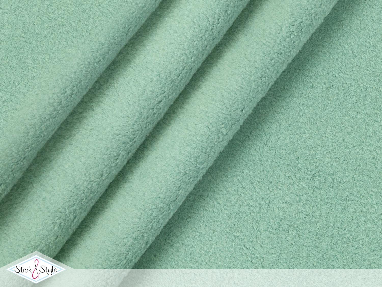 baumwoll fleece uni mint stoffe und meterware g nstig online. Black Bedroom Furniture Sets. Home Design Ideas