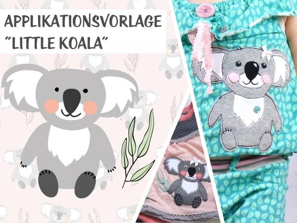 Applikationsvorlage Little Koala | Stoffe und Meterware günstig online