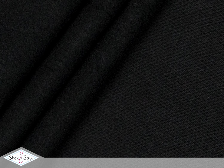 sweat stoff uni schwarz kuschelweich stoffe und meterware g nstig online. Black Bedroom Furniture Sets. Home Design Ideas