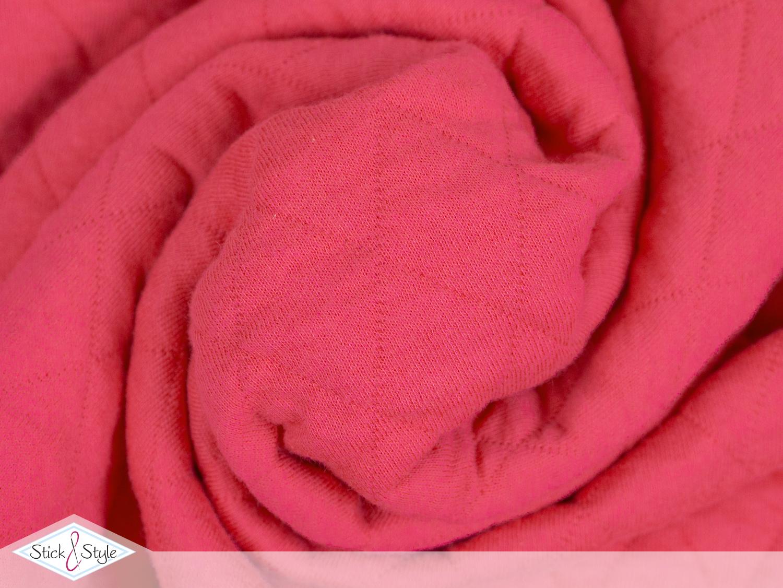 jerseystepp pink gro e rauten wattiert kotex stoffe und meterware g nstig online. Black Bedroom Furniture Sets. Home Design Ideas