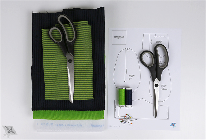 Kostenlose Anleitung Baby Schuhe | Stick & Style ♥ | Stoffe ...
