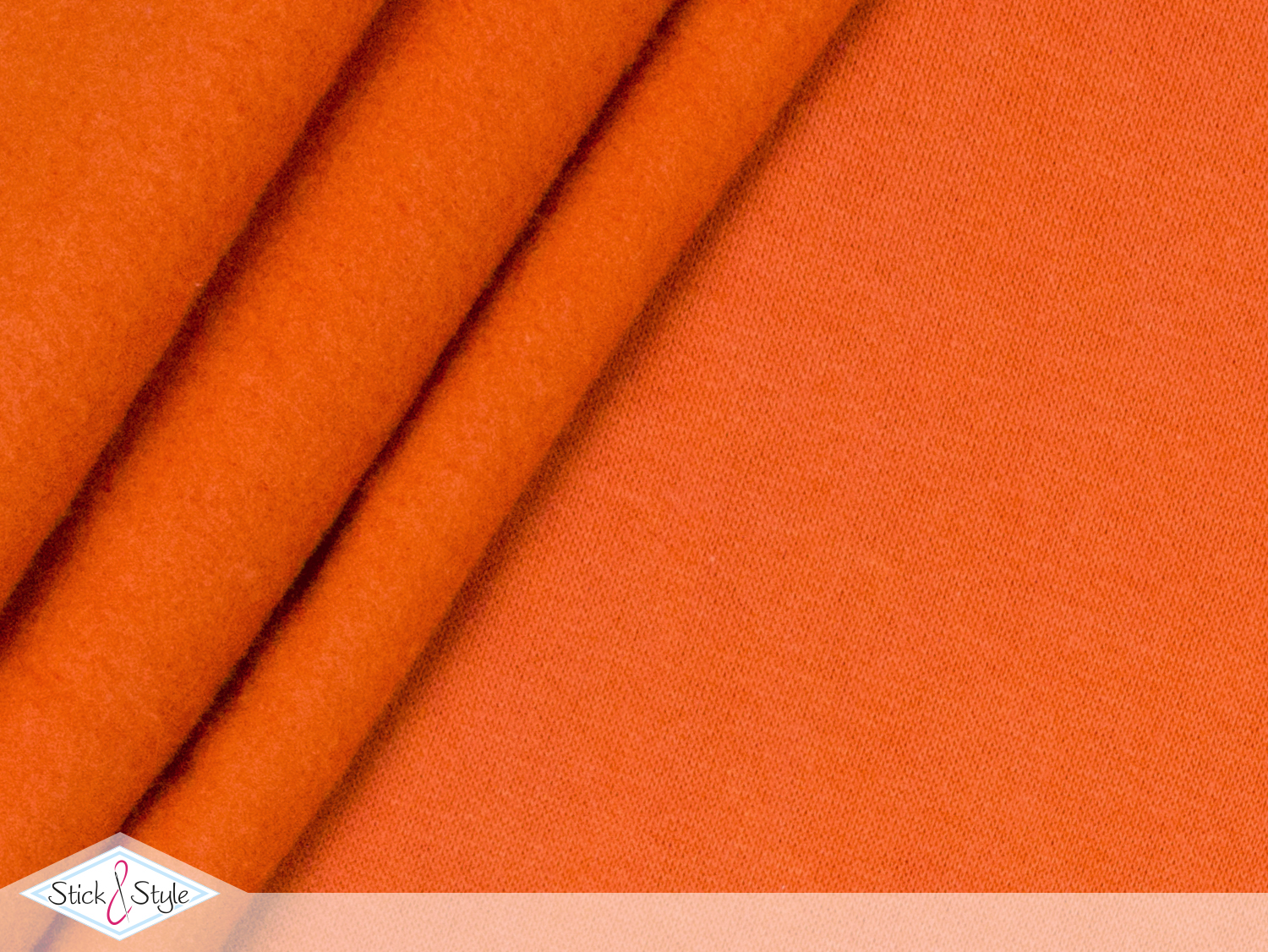 sweat stoff uni orange kuschelweich stoffe und meterware g nstig online. Black Bedroom Furniture Sets. Home Design Ideas