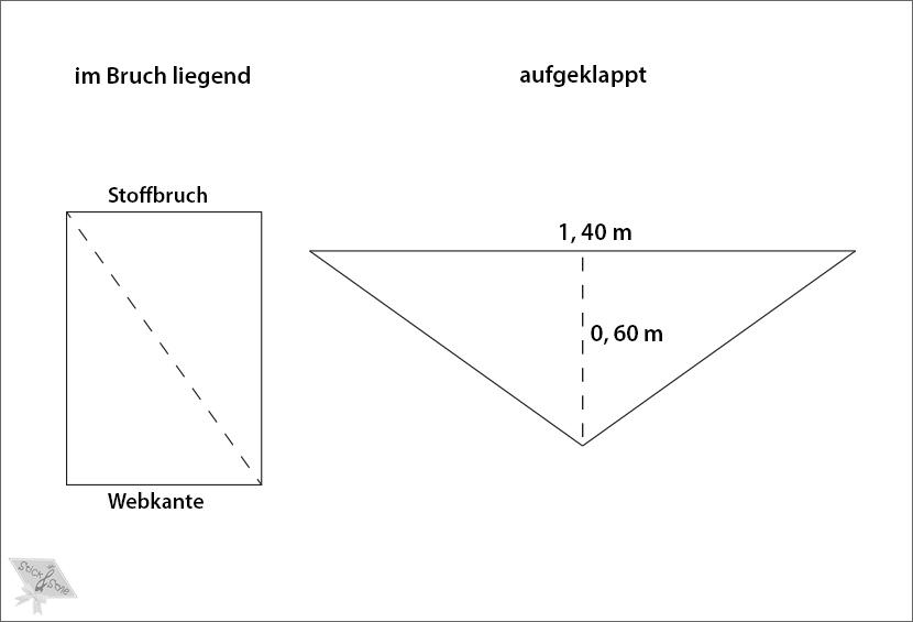 Kostenlose Anleitung Dreieckstuch | Stick&Style ♥ | Stoffe und ...