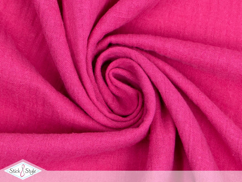 musselin stoff uni pink baumwolle stoffe und meterware g nstig online. Black Bedroom Furniture Sets. Home Design Ideas
