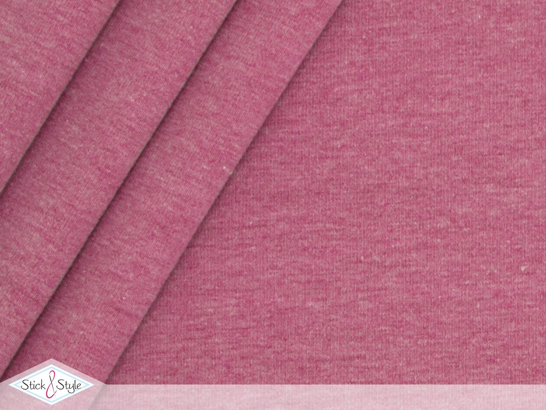 jersey baumwolle uni pink meliert stoffe und meterware g nstig online. Black Bedroom Furniture Sets. Home Design Ideas