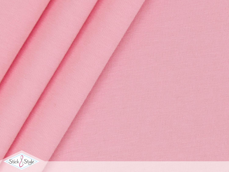 jersey baumwolle uni rosa stoffe und meterware g nstig online. Black Bedroom Furniture Sets. Home Design Ideas