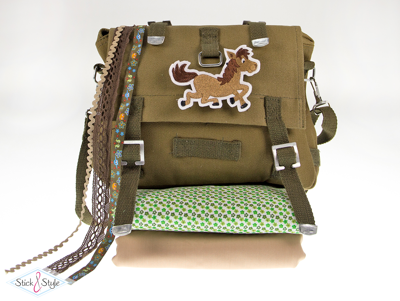 diy tasche army kaki stoffe und meterware g nstig online. Black Bedroom Furniture Sets. Home Design Ideas