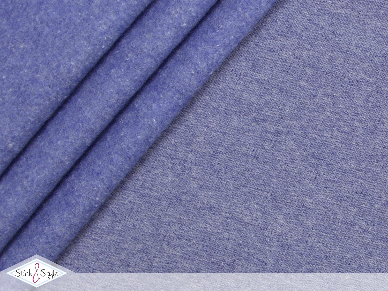 sweat stoff uni himmelblau meliert kuschelweich stoffe und meterware g nstig online. Black Bedroom Furniture Sets. Home Design Ideas