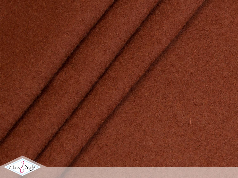 walk walkloden rostbraun wolle stoffe und meterware g nstig online. Black Bedroom Furniture Sets. Home Design Ideas