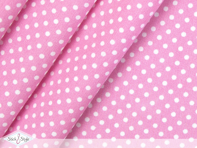 stoff baumwolle p nktchen rosa stoffe und meterware g nstig online. Black Bedroom Furniture Sets. Home Design Ideas