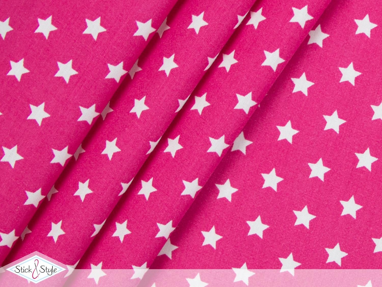 stoff baumwolle kleine sterne pink stoffe und meterware g nstig online. Black Bedroom Furniture Sets. Home Design Ideas