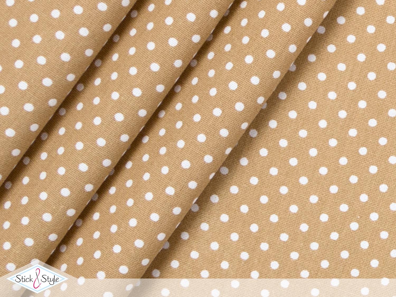 stoff baumwolle p nktchen beige stoffe und meterware g nstig online. Black Bedroom Furniture Sets. Home Design Ideas