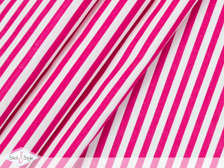 stoff baumwolle streifen 0 5 cm pink stoffe und. Black Bedroom Furniture Sets. Home Design Ideas