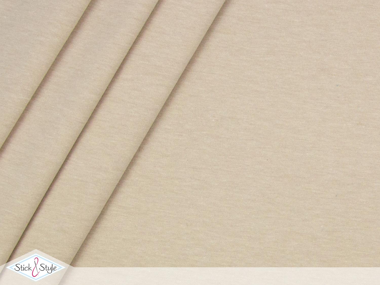 jersey baumwolle uni beige meliert stoffe und meterware g nstig online. Black Bedroom Furniture Sets. Home Design Ideas