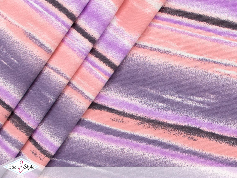 jersey watercolor stripes apricot streifen kotex stoffe und meterware g nstig online. Black Bedroom Furniture Sets. Home Design Ideas