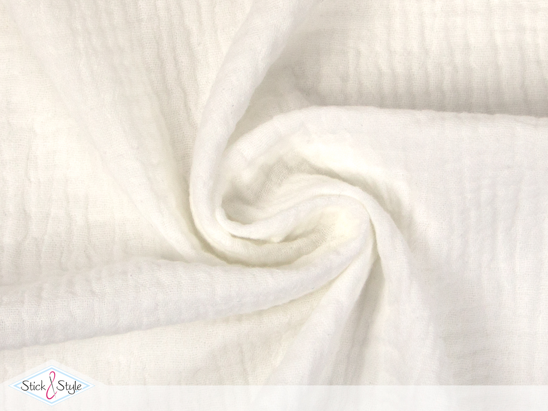 musselin stoff uni creme baumwolle stoffe und. Black Bedroom Furniture Sets. Home Design Ideas