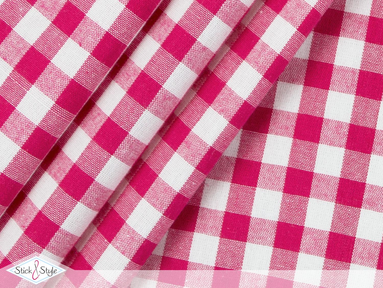 stoff baumwolle gro kariert pink stoffe und meterware g nstig online. Black Bedroom Furniture Sets. Home Design Ideas