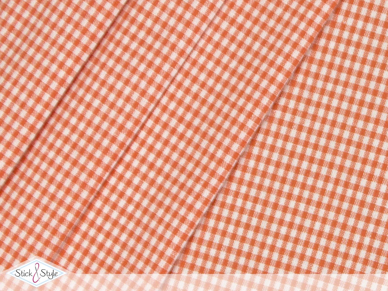 stoff baumwolle kleinkariert orange stoffe und meterware g nstig online. Black Bedroom Furniture Sets. Home Design Ideas