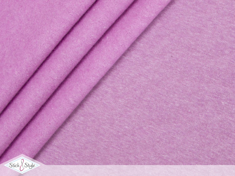 sweat stoff uni pink meliert kuschelweich stoffe und. Black Bedroom Furniture Sets. Home Design Ideas
