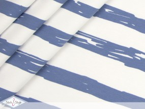 Jersey Painted Stripes - graublau Streifen Eigenproduktion Ökotex