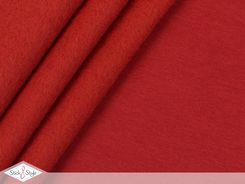sweat stoff uni rot kuschelweich stoffe und meterware g nstig online. Black Bedroom Furniture Sets. Home Design Ideas