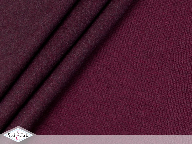 sweat stoff uni brombeer schwarz meliert stoffe und meterware g nstig online. Black Bedroom Furniture Sets. Home Design Ideas