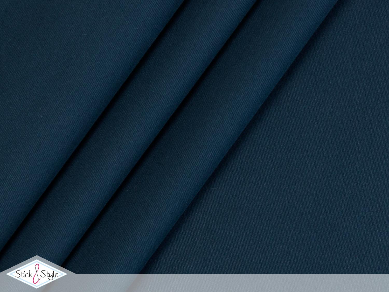 stoff baumwolle uni dunkelblau uni baumwolle stoffe stoffe und meterware g nstig online. Black Bedroom Furniture Sets. Home Design Ideas