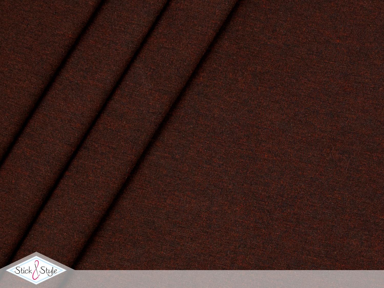 jersey baumwolle uni dunkelbraun schwarz meliert stoffe und meterware g nstig online. Black Bedroom Furniture Sets. Home Design Ideas