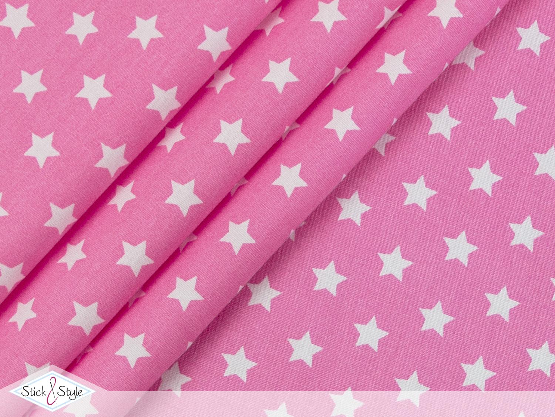 stoff baumwolle kleine sterne rosa stoffe und meterware g nstig online. Black Bedroom Furniture Sets. Home Design Ideas